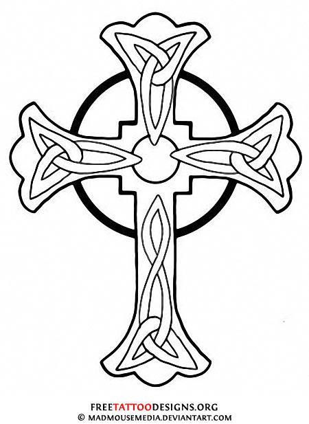 Praying Hands With Cross Drawing