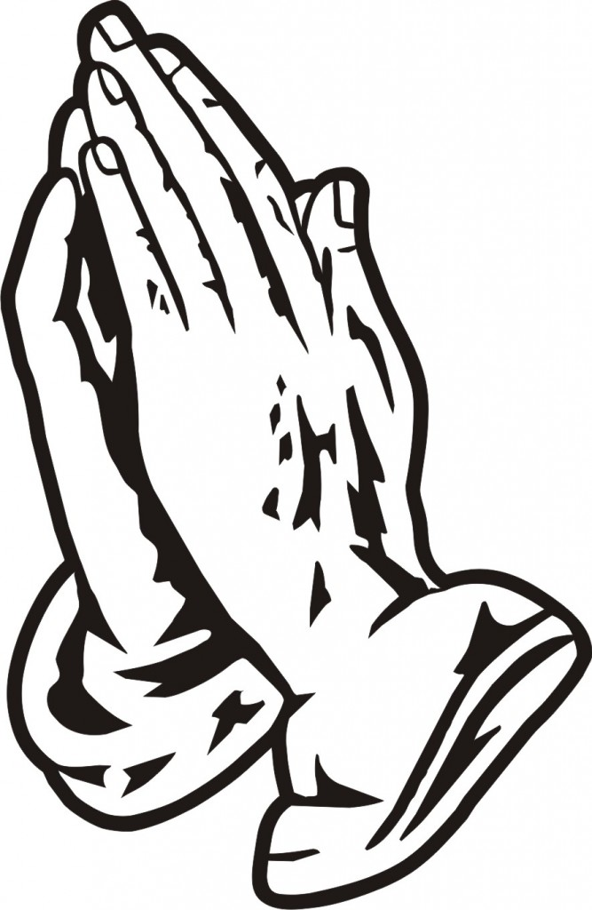 667x1024 Praying Hands Coloring Page Free Many Interesting Cliparts