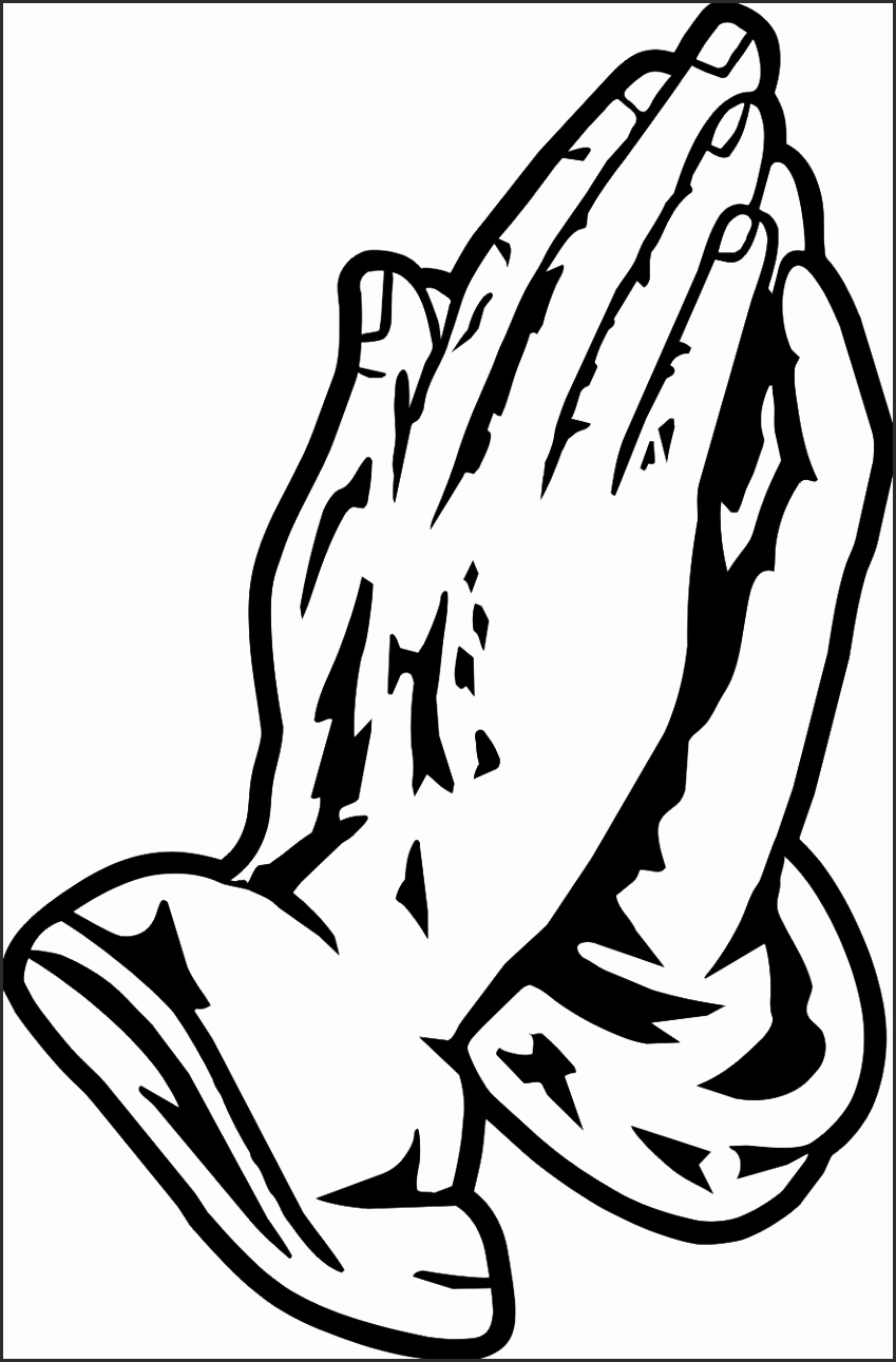 849x1291 Praying Hands Outline Dgjri Awesome Clipart Prayer Hands