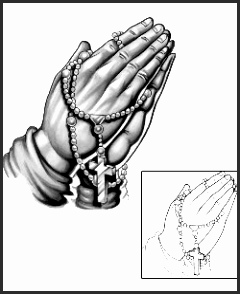 240x294 Praying Hands With Rosary Beads Tattoo Designs Khljh Elegant