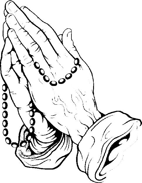 485x626 Drawings Of Praying Hands With Rosary