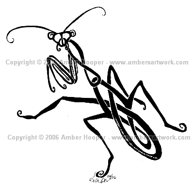 400x390 Tribal Design Praying Mantis By Karmakazi13