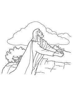 235x314 Kids coloring page from What#39s in the Bible showing Jesus praying