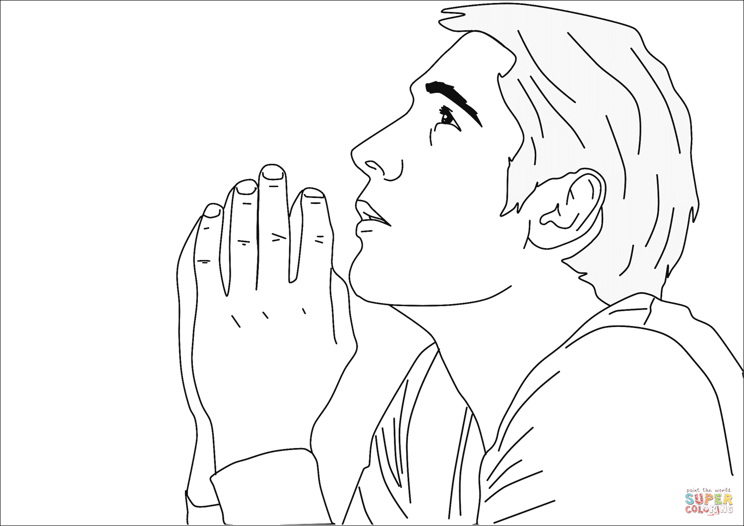 1500x1060 Praying Man coloring page Free Printable Coloring Pages