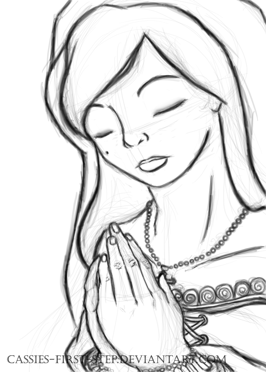 900x1260 Praying Teodora Sketch by CASSIEs First Step on DeviantArt