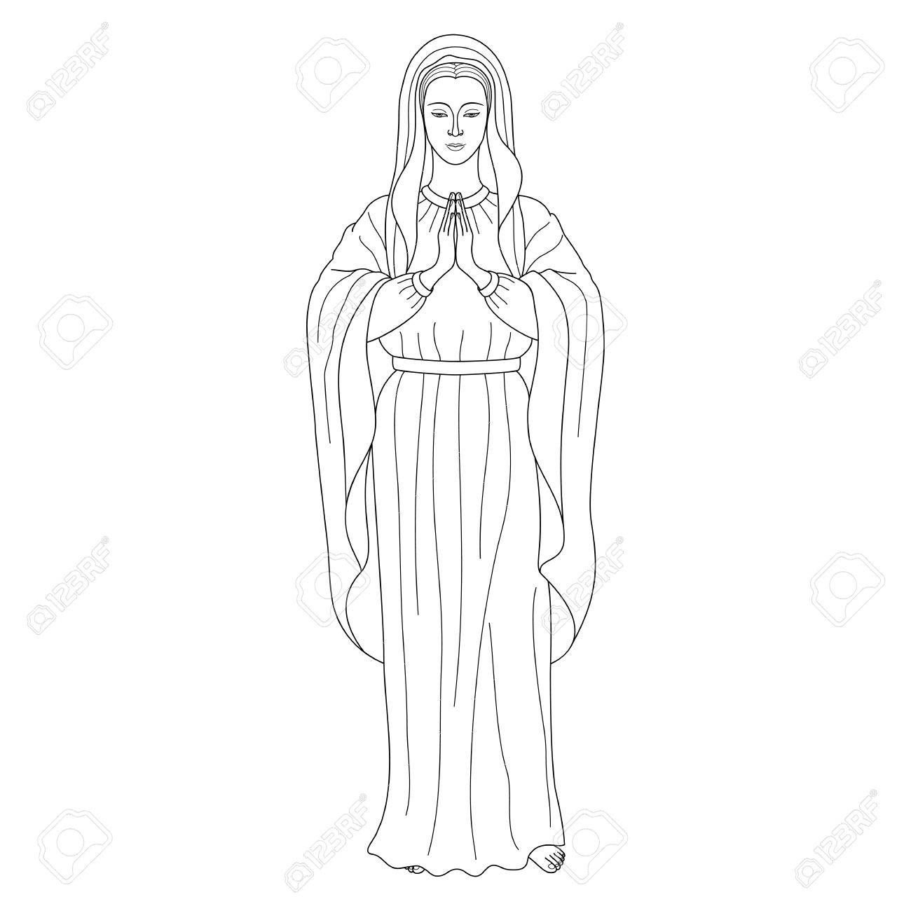 1300x1300 Praying Virgin Mary Stock Photo, Picture And Royalty Free Image