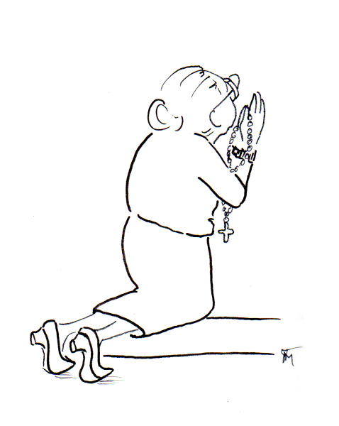 478x600 old woman praying cartoon JOANA MIRANDA STUDIO
