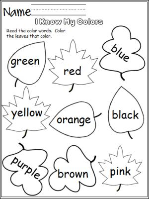 300x400 Free Color Worksheet. Perfect For Fall. Students Read
