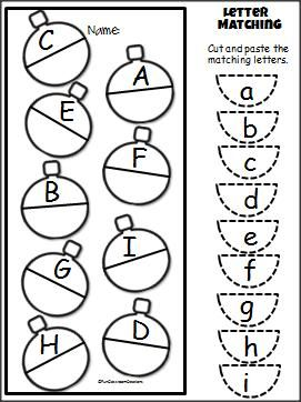 271x362 Christmas Uppercase Lowercase Cut Paste Activity For Prek