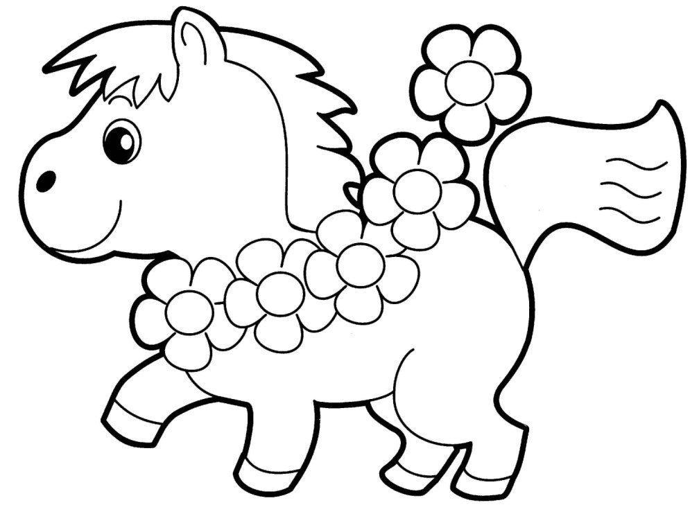 1008x768 Coloring Pages Fancy Preschool Color Pages Little Horse Coloring