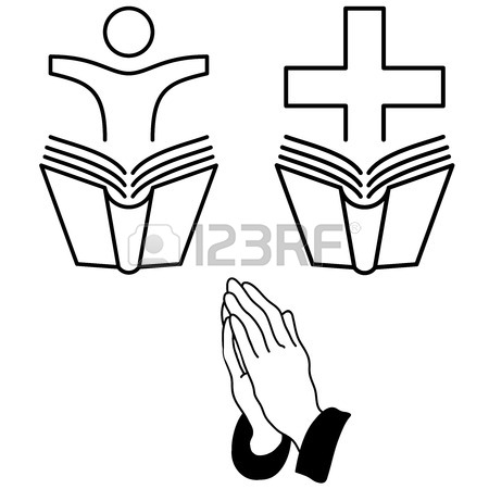 450x450 Vector Illustration Church Prayer Priest Pastor Or Preacher