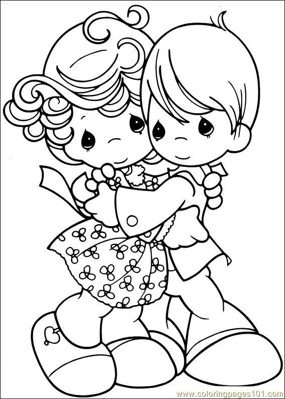 567x794 Precious Moments 53 Scrapbooking People Clipart