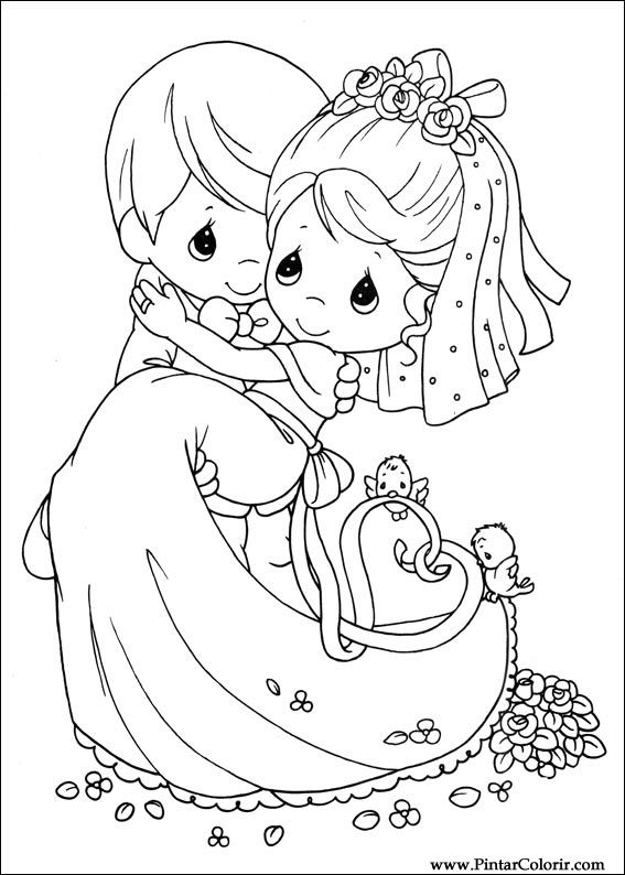 567x794 Drawings To Paint Amp Colour Precious Moments