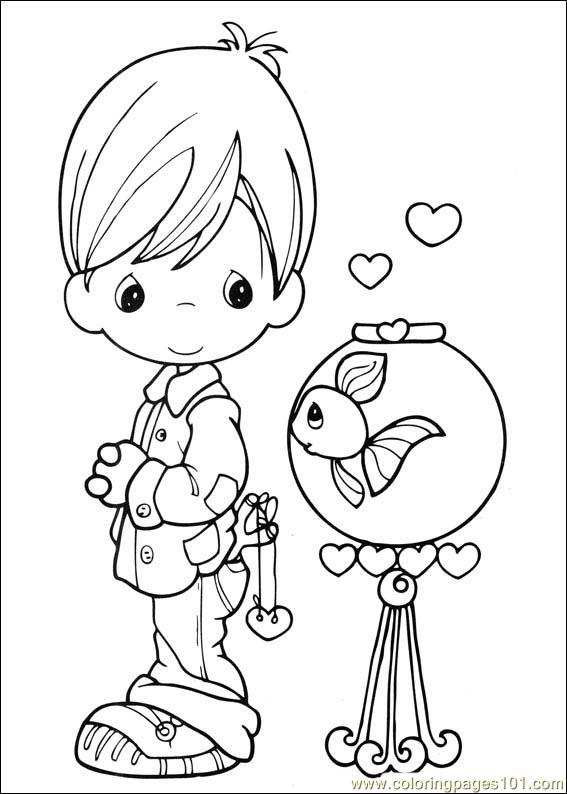 567x794 Precious Moments 41 Coloring Page