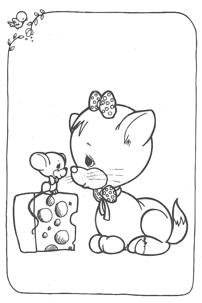 674x1009 Precious Moments Angel Coloring Pages