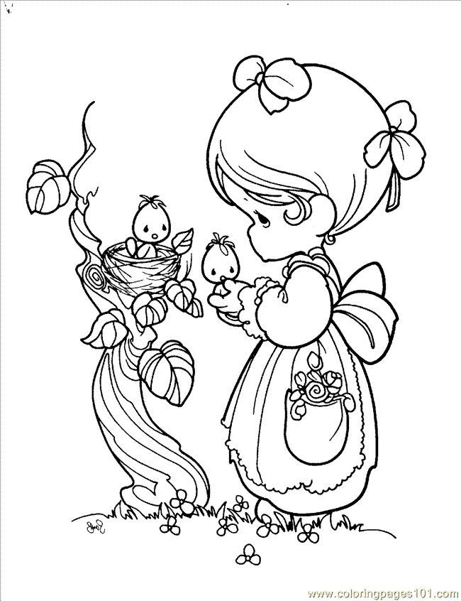 650x846 Precious Moments Coloring Page Free