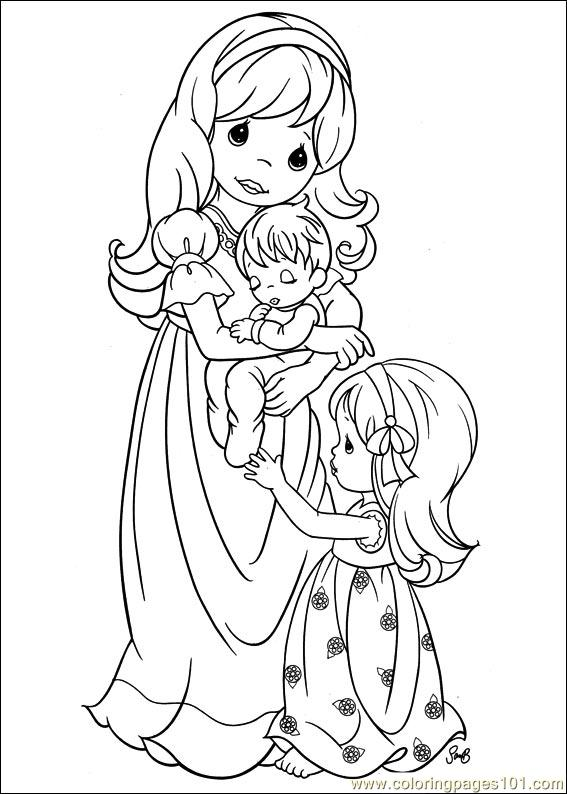 567x794 Precious Moments 58 Coloring Page