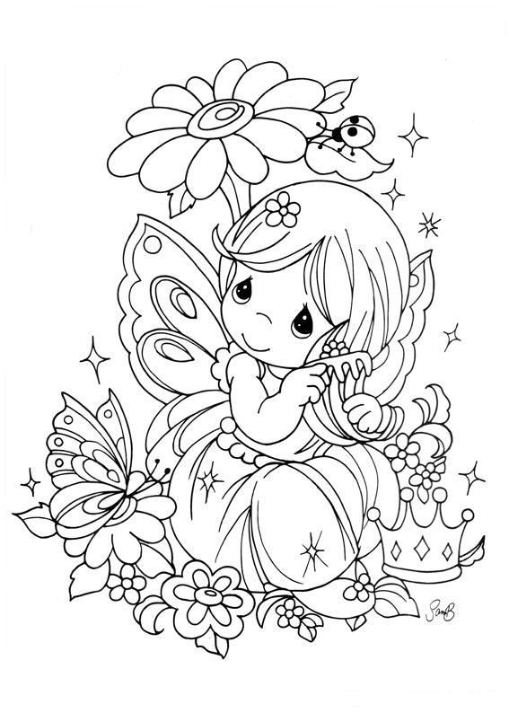 567x794 Drawing Fairy Precious Moments Coloring Child: Free Coloring Sheets Precious Moments Deer S At Alzheimers-prions.com