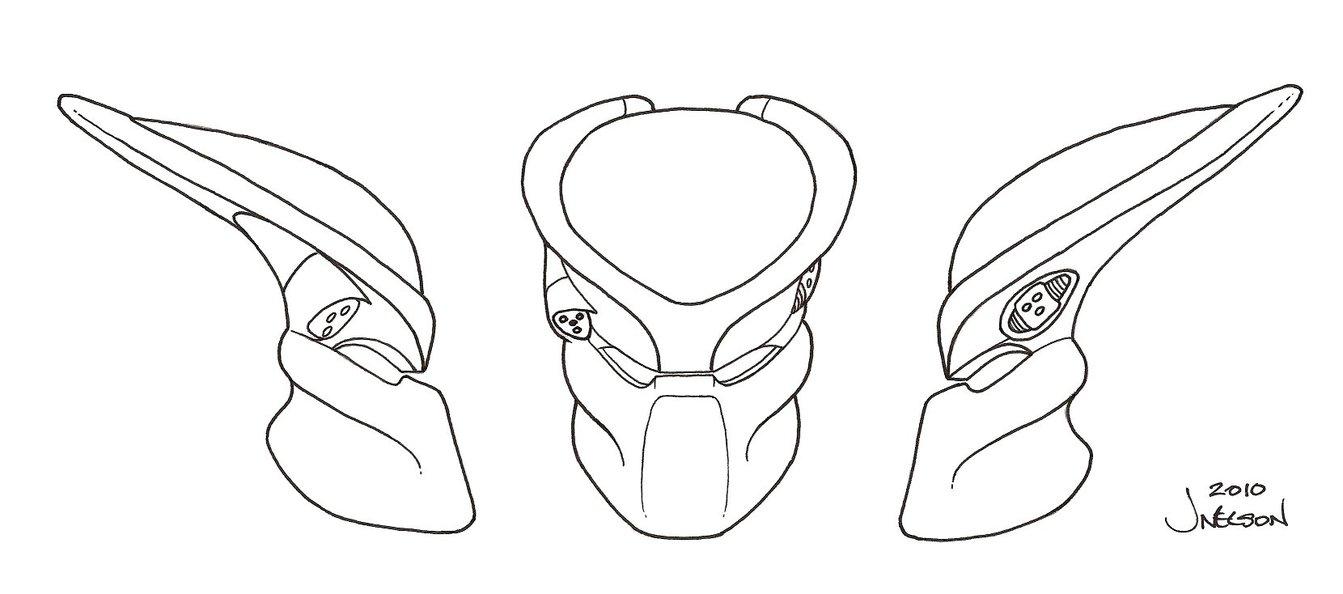 1343x594 Predator Bio Helmet Template 3 By Predatrhuntr Avp