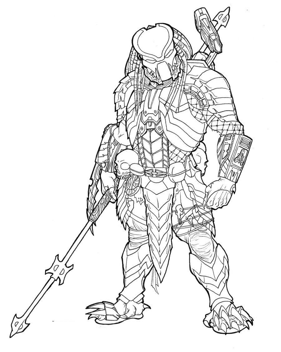 Predator Face Drawing at GetDrawings com | Free for personal