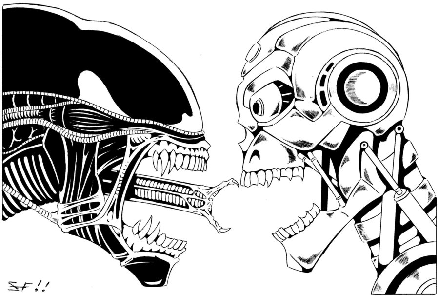 900x606 Alien Vs Terminator Alien Vs Terminator By ~lordinator