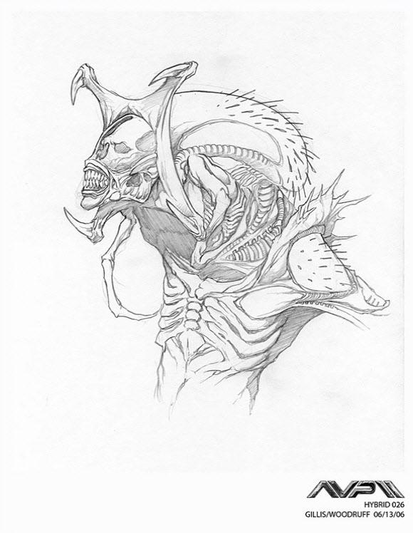 580x748 Alien Explorations Alien Vs Predator Farzad Varahramyan's Predaliens