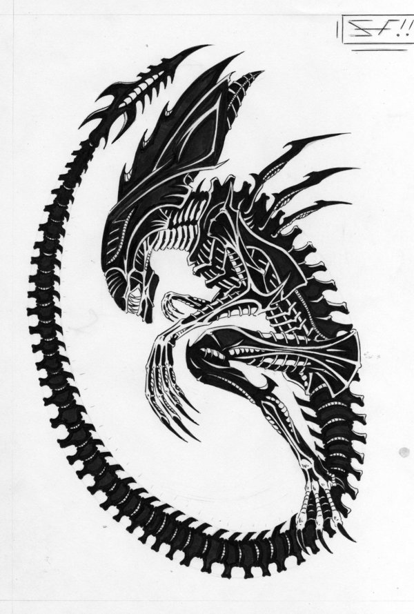 600x890 Xenomorph queen Aliens And Predators, Alien Queen By ~lordinator
