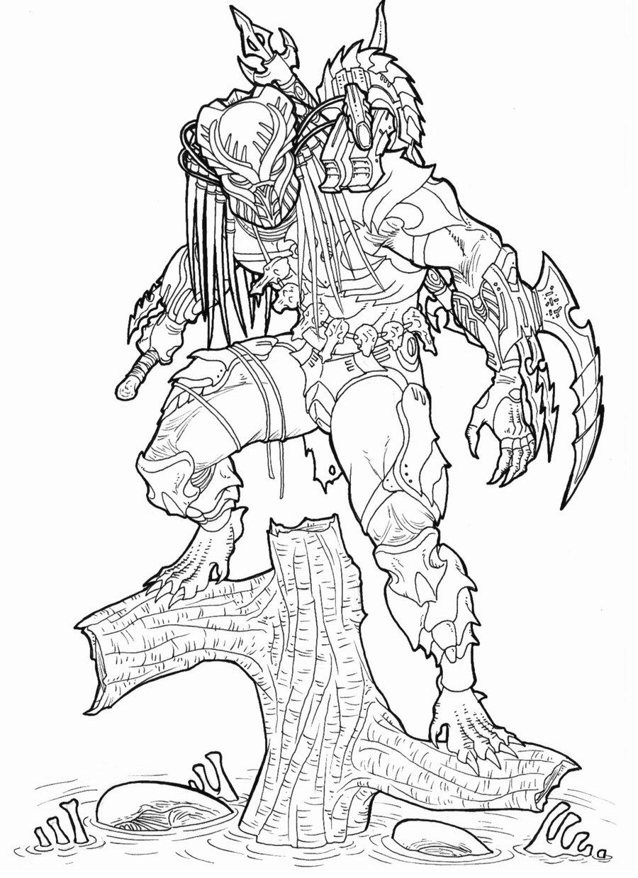 900x1239 Alien Vs Predator Drawing Books Alien Vs Predator Funny