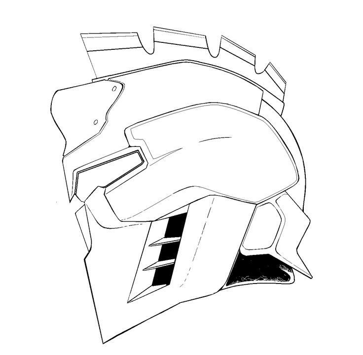Predator Helmet Drawing