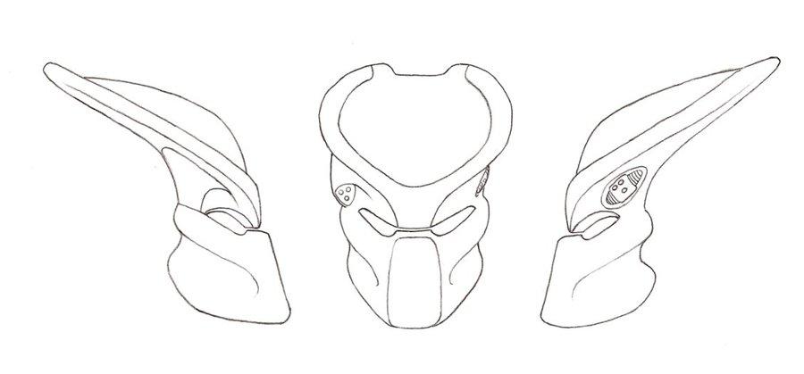 900x419 Predator Bio Helmet Template 2 By Predatrhuntr