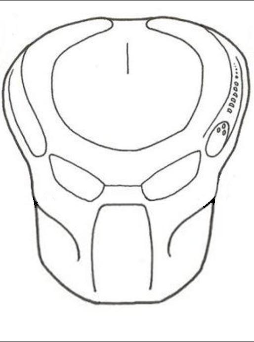 514x693 Predator Mask Drawings Link 814 Investingbb