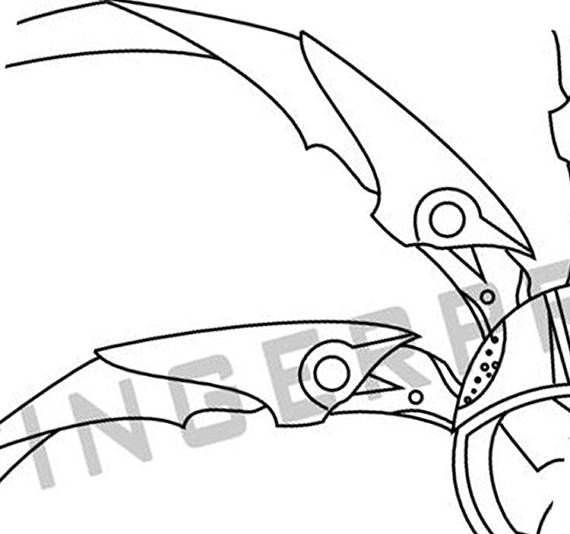 570x534 Predator Shuriken Templatepattern