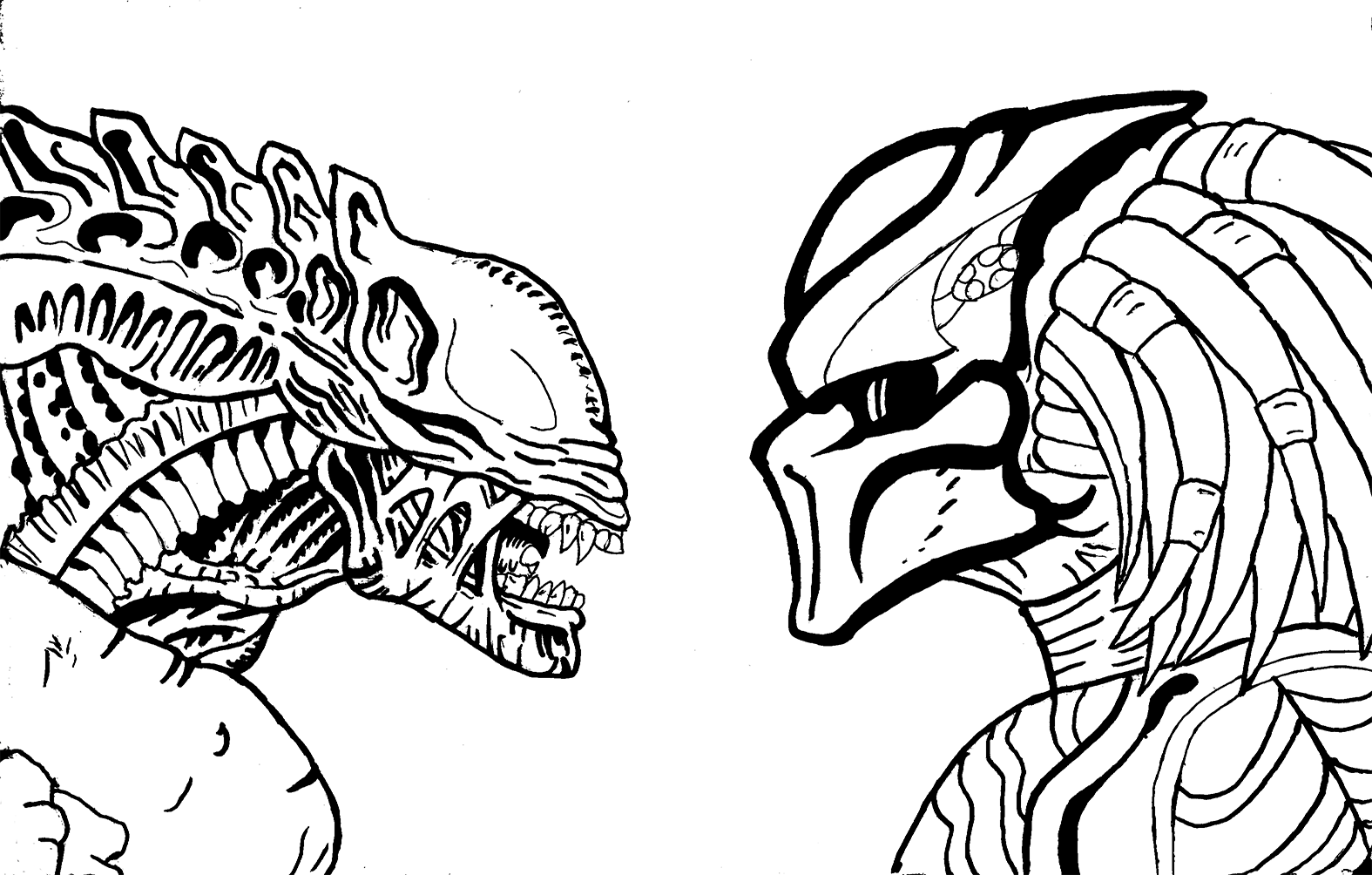 1575x1004 Predator Vs Alien Favourites By Rennaya
