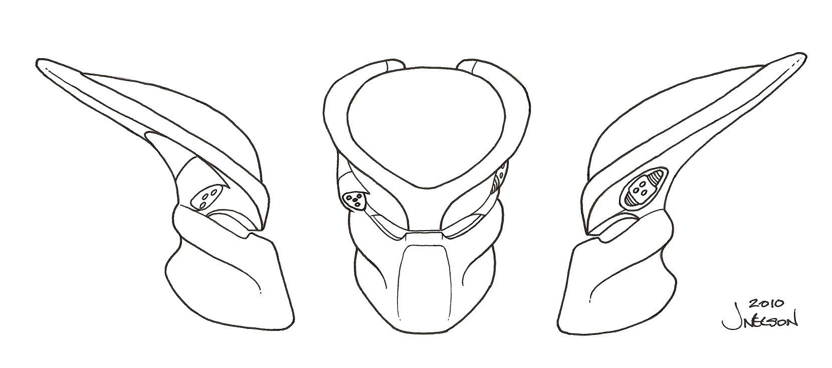 1660x734 Predator Bio Helmet Template 3 By ~predatrhuntr