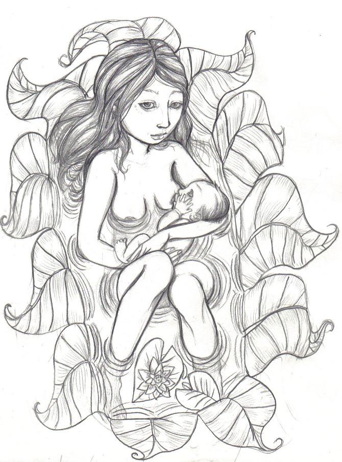 670x905 Breastfeeding And Pregnancy Drawings