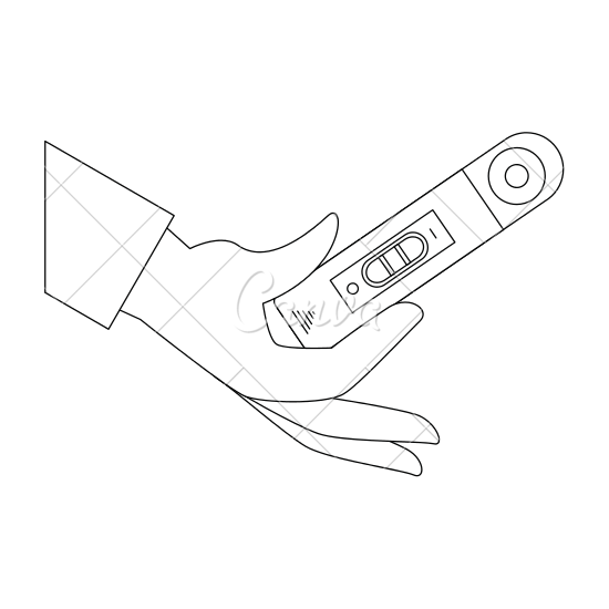 550x550 Hand With Pregnancy Test Icon