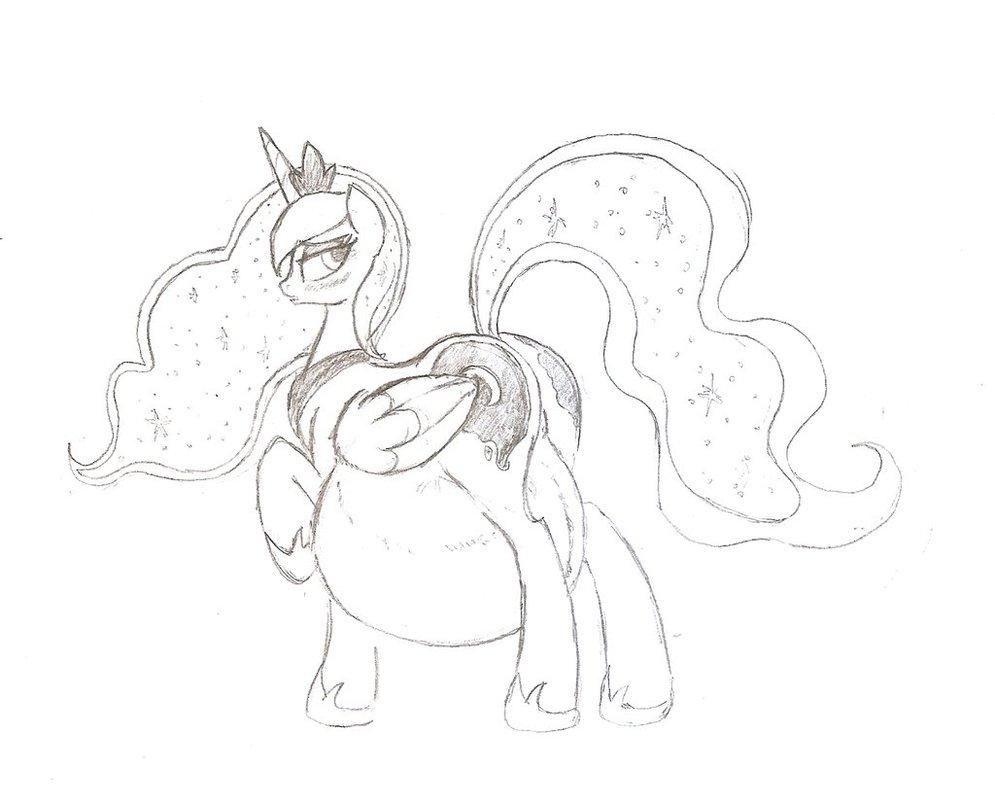995x803 Mlpfimpreg] Pregnant Luna By Rusticpony