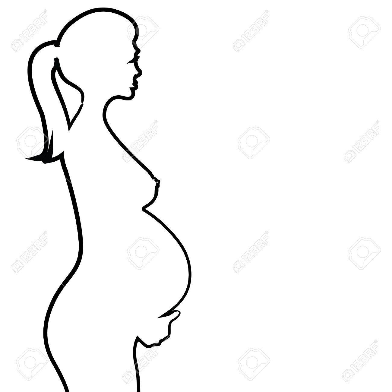 1300x1300 Pregnant Naked Woman Silhouette
