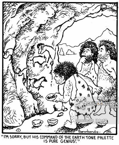 400x488 Cave Drawing Cartoons And Comics