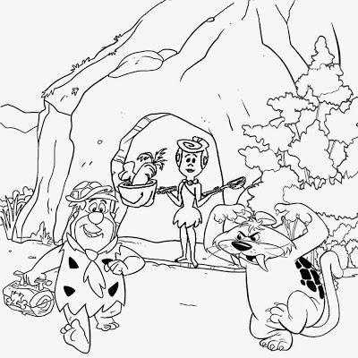 400x400 Lets Coloring Book Flintstones Coloring Stone Age Cartoon Caveman