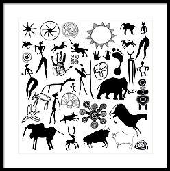 248x250 Ancient Cave Art Art