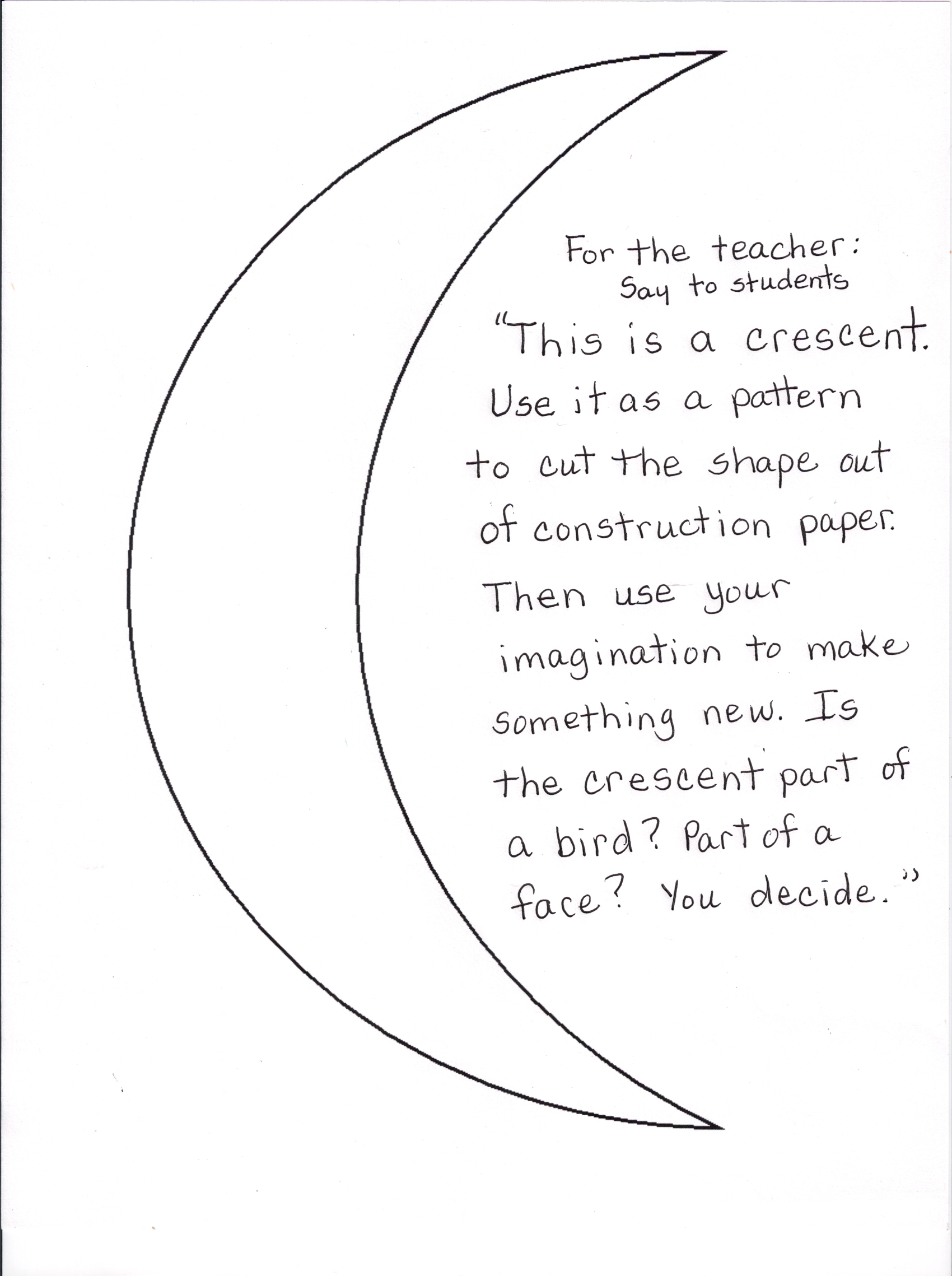 1700x2278 Preschool Activities Studying Shapes All About Crescents