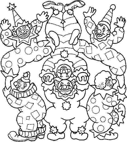 540x600 Circus Coloring Pages For Preschool Coloring Page