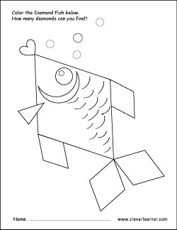 250x324 Free Diamond Shape Activity Sheets For Preschool Children