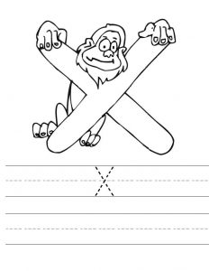 232x300 Letter X Worksheets For Preschool