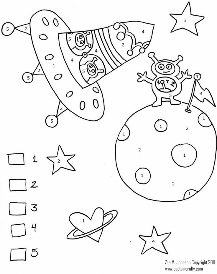 736x927 Space Color By Numbers Worksheet Crafts And Worksheets