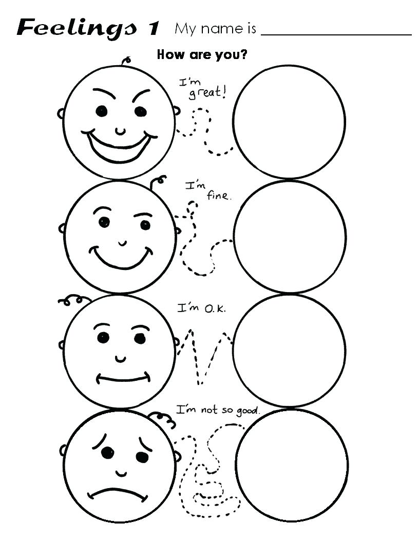 816x1056 Worksheet Preschool Drawing Worksheets Emotions For Preschoolers