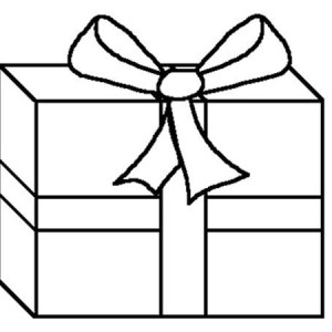 300x300 Awesome Present Box Coloring Page