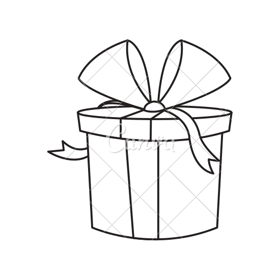 Present box drawing at getdrawings free for personal