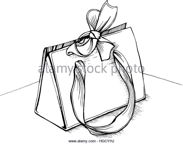 640x506 Drawing Bag Gift Present Stock Photos Amp Drawing Bag Gift Present